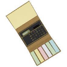 Mini Bloco com Post-it e Calculadora