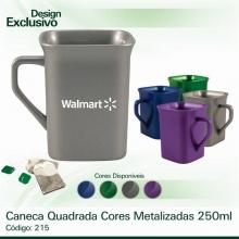 Caneca Quadrada Cores Metalizadas