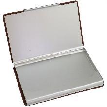 Porta Cartão de Metal e Couro