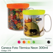 Caneca Foto Térmica Neon
