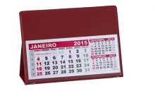 Calendário de Mesa Vermelho